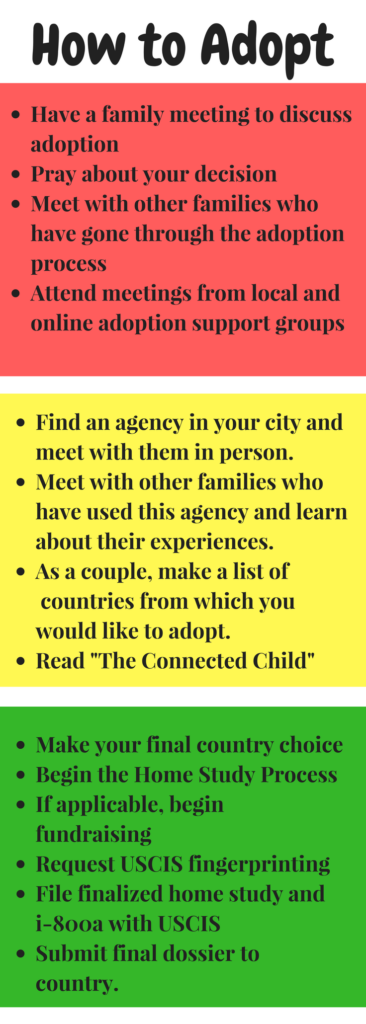 How to become adoptive parents. How to begin an international adoption. How to adopt a child.