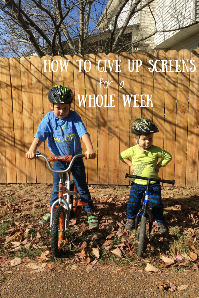 How to give up Screens for a week-2