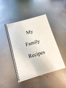 How to create a family recipe cookbook