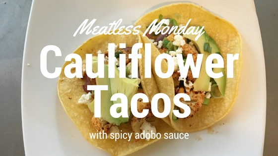 Easy Cauliflower Tacos With Spicy Adobo Sauce