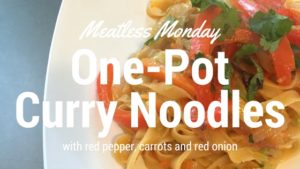 Easy curry noodles #VegetarianRecipes #CleanEating
