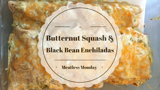Vegetarian Butternut Squash and Black Bean Enchiladas