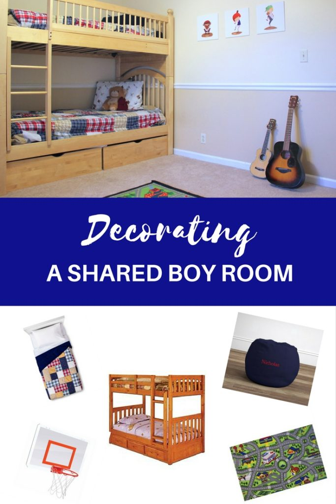 How to decorate a kids room on a budget. Decorating a small kids room. Shared bedrooms for boys.