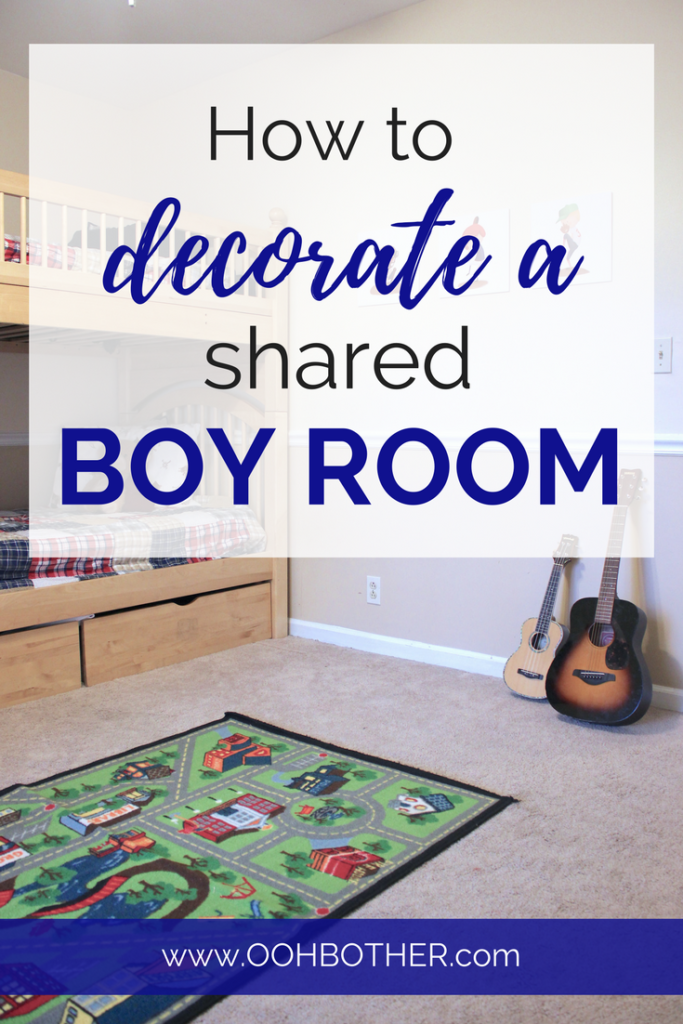 How to decorate a shared kids room for boys