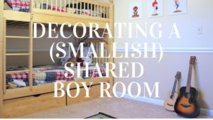 How to decorate a small, shared boy's room