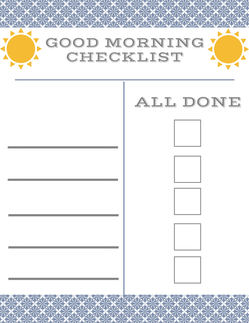 image about Morning Routine Checklist Printable named Youngsters Early morning Agenda Chart for Preschool and Basic